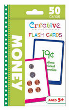 NEW 50 Money Flash Cards Education Learning Counting Coins Making Change Ages 5+