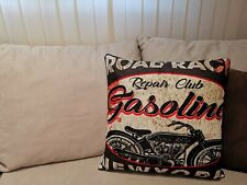 DEKO ART DESIGN KISSEN - NEW YORK MOTORCYCLE ROAD RACE GASOLINE ROCKER #B04