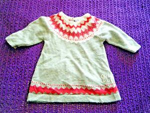 Rocha Little Rocha beautiful knitted babys dress 9-12 months VGC Scandi theme
