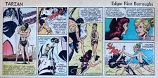 Tarzan by Burroughs & Russ Manning - lot of 8 Sunday comic pages, early/mid 1972