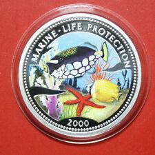 "Kongo 10 Francs 2000 ""Marine Life Protection"" #F3357 Coloured ""Leo Drückerfisch"""