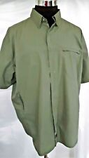 Woolrich Mens Shirt Xl Lt. Olive Vented Outdoors Sports Hunting Fishing boating