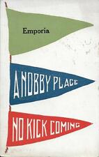A Nobby Place - No Kick Coming Emporia KS nice postcard postally used in 1914