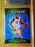 2018-19 JAREN JACKSON JR Chronicles Crusade Green RC Prizm /25 Rookie 547 BGS