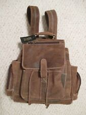 Claire Chase Backpack Uptown Distressed Brown Leather NWT