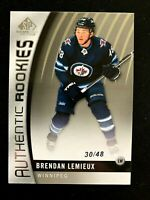 2017-18 SP Game Used #109 Brendan Lemieux/48 TRUE RC
