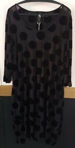 Ts Taking Shape Semi Sheer Black Dress Tunic Size M (18)