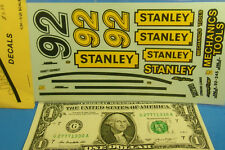 JNJ WATERSLIDE DECALS 1/24 1/25 Scale NASCAR #92 STANLEY MECHANICS TOOLS Vintage