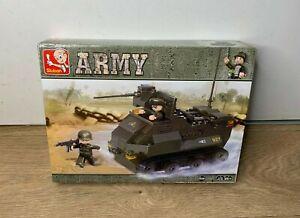 Sluban M38 B0281 Army Armoured Tank Set- Building Bricks Construction Set