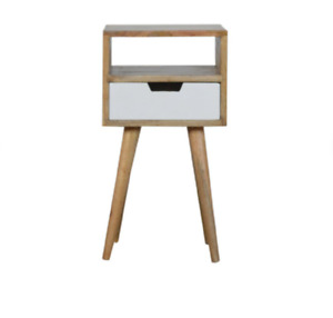 Petite Oak Bedside Table Handmade From Solid Wood