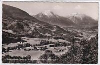 Ansichtskarte Luftkurort Oberau mit Watzmann/Hochkalter/Berchtesgaden - s/w