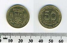Ukraine 2010 - 50 Kopiyok Aluminum-Bronze Coin - National arms