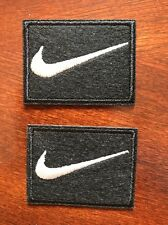"""2. Nike Black iron on PATCH -  patches new  Appx  2"""" X  1.5"""" Nice"""