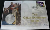 2001 IOM & Gibraltar The Great Exhibition Coin FDC | First Day Covers | KM Coins