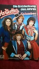"Autogramme der Musikgruppe ""The Hornettes"", Farb-Magazinbild, groß 29,7x21cm"