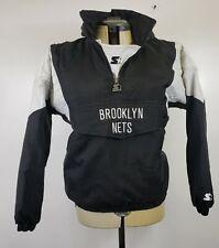 Brooklyn Nets NBA Starter Classic Black Team Logo Size M Jacket FAST SHIPPING!!!