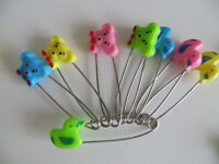 MIXED COLOURED BABY NAPPY DIAPER CLOTH PINS SAFETY PINS NAPPIES CRAFT CLIP TEDDY