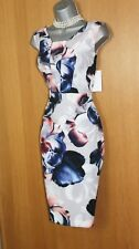 PRECIS Milly Floral Print Jersey Pencil Shift Formal Elegant Dress UK10  38 £119