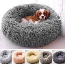 Pet Dog Cat Calming Bed Round Nest Warm Soft Plush Comfortable Self Sleeping Mat