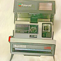Vintage Polaroid Sun 600 LMS Instant Land Camera with strap and booklet boxed