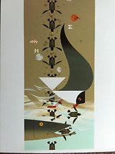 "CHARLEY CHARLES HARPER "" Perilous Passage "" New Art  print Baby Sea Turtles"