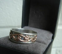 Clogau Welsh Rose Gold & Silver Tree Of Life Ring - size T