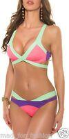 sexy bikini maillot de bain en multicolour. 3 couleurs disponibles UK 8.10.12.14
