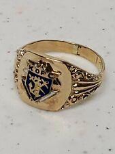Vintage Knights Of Columbus 10K Ring Men's Size 9.75