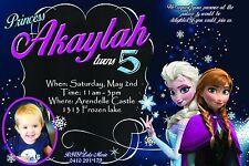 FROZEN Invitation Birthday Party Invite YOU PRINT Digital File SKYE PEPPA PIG