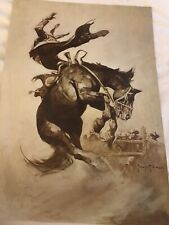 FRANK FRAZETTA Temptress FANTASY Litho PRINT 12.5 X 15 Vintage New Red Devil