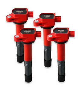MSD Ignition Coils Blaster Series for 2008-2015 Honda 2.4L, Red 4-pack  82194
