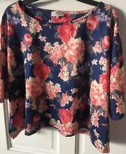 Gorgeous PAPAYA WEEKEND Floral Short Sleeve Top Size 14