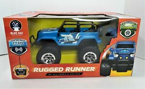 Rugged Runner Blue Hat Remote Control All Terrain Vehicle Brand New in Box  720