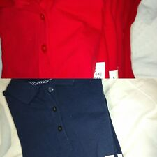 Cat & Jack Girls Polo school uniforms sleeve short sleeve Red Or Navy Blue New
