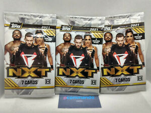 2021 Topps WWE NXT Wrestling Trading Cards Hobby Packs 3 x Sealed Packets