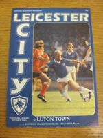 19/09/1981 Leicester City v Luton Town  (Creased). Thanks for viewing this item