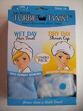 Turbie Twist The Original Hair Towel Wet Shower Cap Dry Bath Spa OSFM NIP