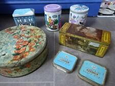 7x Antique Tins Peek Frean & Co Biscuits Quality Street Mackintosh's Tea Players