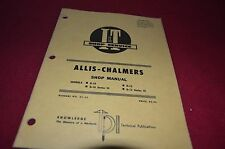 Allis Chalmers D10 D10 III D12 D12 Series III Tractor I&T Shop Manual YABE8