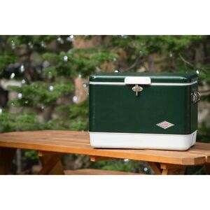 Steel Coleman Cooler Belted Vintage 54 Qt Ice Chest Camping Metal Outdoor Store
