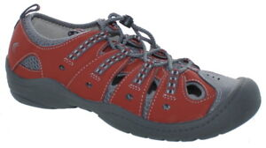 Clarks Youth Jetta Sand J Water Outdoor Sandal Shoes Red/Grey