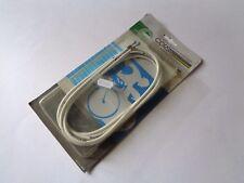 * Nos Vintage 1980s CASIRAGHI Corsa cavi dei freni ITALIANO impostato in Bianco (cod.4048) *