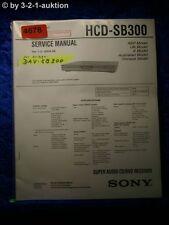 Sony Service Manual HCD SB300 /DAV SB300 CD/DVD Receiver (#4678)