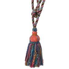 * Kravet Design Trim Single Tassel Tieback Bright blue, coral, pink, yellow