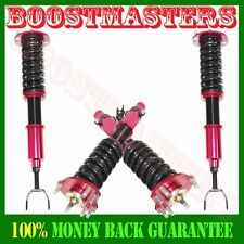 92-01 Honda Prelude Full Coilover Suspension Lowering Kits 28 ways Damper RED