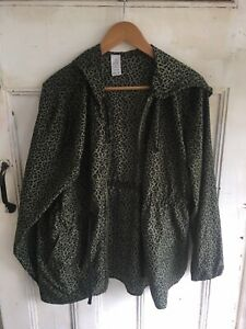 Mix Leopard Print Activewear Jacket Size XL Womens Zip Up