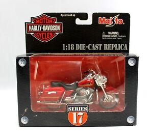 Maisto Harley Davidson 2002 FLHRI Firefighter Edtn Series 17 Diecast 1:18 2003