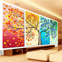 4 Panel Four Season Tree Wall Painting Picture Prints Canvas Home Art Wall Decor