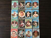 ⚾️1959 Topps Baseball Cards Philadelphia Phillies Lot Of 16 Sparky Anderson ⚾️