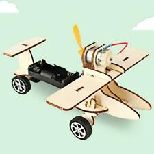 Wooden Electric Taxiing Plane Model DIY Handmade Kid Assembling Science Kit Toy